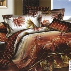 Lenjerii de pat cu efect 3D din bumbac dublu satinat - Elegant Pucioasa SEP3D-8 - Lenjerie de pat