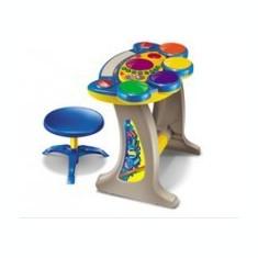 Orga multifunctionala pentru copii cu tobe si scaun - Instrumente muzicale copii