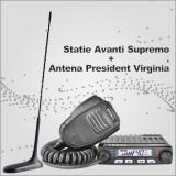 Statie radio CB Avanti Supremo + Antena radio CB President Virginia