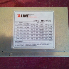 Sursa 450W ALINE, 2 x SATA, 2 x Molex, PFC Pasiv - Sursa PC, 450 Watt