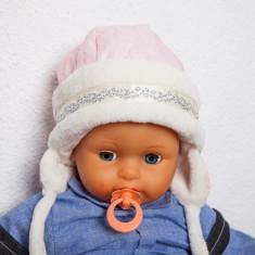 Caciulita iarna copii roz - Caciula Copii