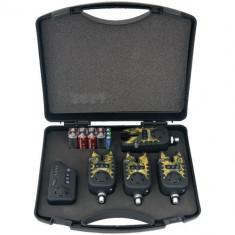 Set wireless 4 avertizori TLI22 + receptor Diamant Alb Culoare Negru - camuflaj - Avertizor pescuit, Electronice