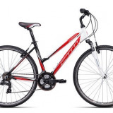 "Bicicleta dama CTM Maxima 2.0, 2016, cadru 18"", negru / rosu Cod Produs: 037.91"