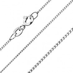 Lanț din argint - zale compacte, 1 mm - Lantisor aur