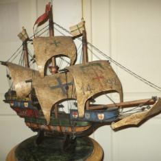 SUPERB!..Exceptionala macheta corabie antica de dimensiuni mari - Macheta Navala Alta