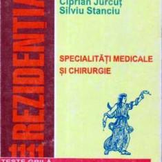 Specialitati medicale si chirurgie - 1111 teste grila comentate pentru rezidentiat - - Carte Diagnostic si tratament