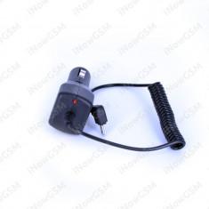 Incarcator auto miniUSB pentru GPS, PDA de 2A 5V cu LED - Incarcator GPS