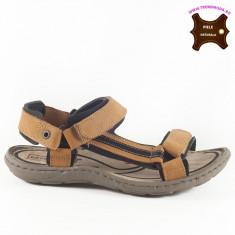Sandale barbati piele naturala VINCENT maron (Marime: 44)