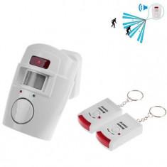 Alarma wireless cu senzor de miscare si 2 telecomenzi - Sisteme de alarma