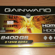 Placa Video Gainward 8400GS DDR3 512 MB 64 bit - Placa video PC Gainward, PCI Express, nVidia