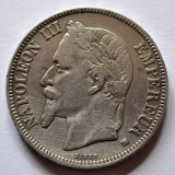 5 Franci (Francs) 1869 BB Strasbourg - Napoleon III - Franta - Argint, Europa