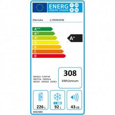 Combina frigorifica Electrolux EN3452JOW, 318 l, Clasa A+, H 185 cm, Alb