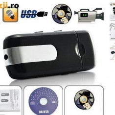 USB STICK Spion Spy CR-U8 Mini U8 Senzor Miscare Reportofon VIBRATII Video HD - USB gadgets