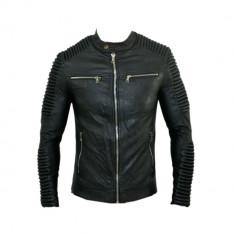 Geaca Barbati Zara David Beckham Motto Jappan Casual Cod Produs 9135, Marime: S, M, L, XL, Culoare: Negru, Piele