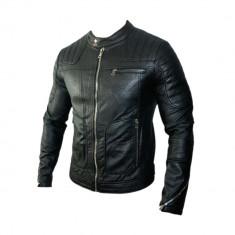 Geaca Zara Model Office Croiala SlimFit Cod Produs 9137 - Geaca barbati Zara, Marime: XS, Culoare: Negru, Piele