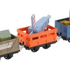 Set Thomas And Friends Trackmaster Dockside Delivery Crane Cargo And Cars - Trenulet de jucarie Mattel