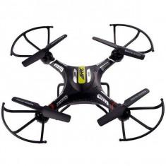Drona iUni H8C cu Camera, leduri pentru exterior, Telecomanda WiFi, Negru