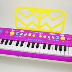 Orga electronica de jucarie / Orga pentru copii cu suntete, lumini si microfon - Instrumente muzicale copii