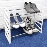 Suport pentru pantofi alb - 3 rafturi