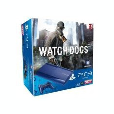 Consola Sony Ps3 Slim 500Gb Blue Plus Joc Watch Dogs - Consola PlayStation