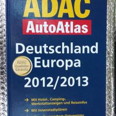 Marele ADAC AUTO-ATLAS Germania, Europa 2012/2013 - Harta Turistica