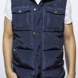 Vesta tip Zara Man - vesta bleumarin vesta groasa vesta varbat vesta slim cod 56 - Vesta barbati, Marime: XL, XXL, Culoare: Din imagine