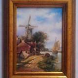 Tablou picturå- peisaj - Pictor roman, Natura, Ulei, Miniatural