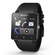 Smartwatch Sony SmartWatch 2 Black cu bratara de silicon