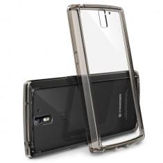 Husa Protectie Spate Ringke FUSION Smoke Black plus folie protectie pentru OnePlus One - Husa Telefon