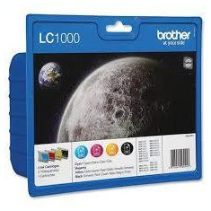 Set cartuse cerneala Brother LC1000VALBP 1700 pag CMYK - Cartus imprimanta