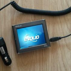 GPS Evolio iMap E-300 cu ÎNCĂRCĂTOR AUTO, 4, 3, Car Sat Nav, Sugestii multiple de cai: 1, Incarcator auto: 1, Memorie extensibila: 1