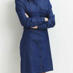 Rochie denim, stil camasa - Vila - art 14032778 blue denim - Rochie de zi Vila, Marime: M, L, Culoare: Albastru