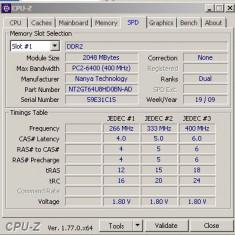 Memorie laptop SODIMM 2Gb DDR2 800Mhz PC2-6400S (1x2Gb)nanya - Memorie RAM laptop