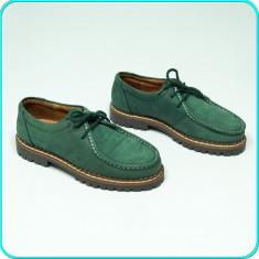 DE CALITATE _ Pantofi DIN PIELE, comozi, impecabili, RICHTER _ baieti | nr. 34 - Pantofi copii, Culoare: Verde, Piele naturala