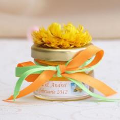 Marturii botez borcanele miere si flori uscate