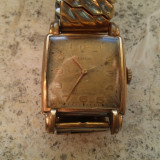 "Ceas Vintage Art Deco ""Laco"" 17 Jewel Durowe Cal. 527 Gold Plated - Ceas barbatesc, Casual, Mecanic-Manual, Analog, Diametru carcasa: 26"