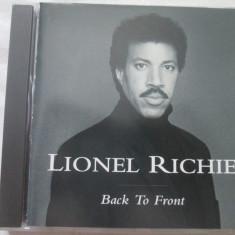 Lionel Richie – Back To Front _ cd, album - Muzica R&B Altele