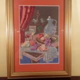 "Goblen ""Roadele toamnei"" inramat dimensiuni 11 cm x 17 cm"