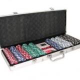 Set Poker 500 jetoane Servieta