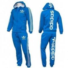 Trening Adidas Logo albastru Barbati - Trening barbati Adidas, Marime: S, M, L, XL, XXL, Culoare: Din imagine, Bumbac