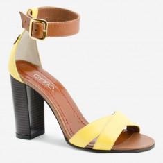 Sandale Dama. Model Piele Naturala Galben Havan