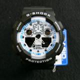 CASIO G-SHOCK GA-100-1A4ER, WHITE FACE-POZE REALE-MANUAL-MODEL NOU-VEZI ANUNT !! - Ceas barbatesc Casio, Sport, Quartz, Cauciuc, Alarma, Analog & digital