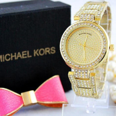Ceas dama, Lux - elegant, Quartz, Inox, Inox, Cronograf - Ceas Luxury Michael Kors Diamond MK-1 Bratara Cristale Dama Auriu 3 CULORI