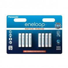 8x Baterii Reincarcabile Panasonic Eneloop AAA R3 ON2107 - Baterie Aparat foto