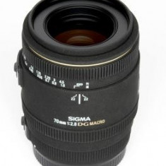 Obiectiv DSLR - Sigma 70mm f/2.8 EX Macro DG, obiectiv foto Canon