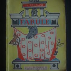 LA FONTAINE - FABULE {1963, ilustrata color} - Carte Fabule