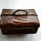Geanta piele de crocodil - secol XIX