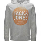 Hanorac barbati - Hanorac cu gluga Jack & Jones 12093027 treated white