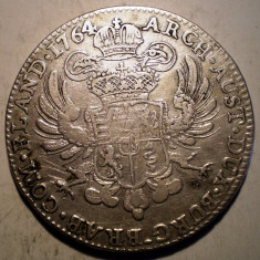 G.274 AUSTRIA TARILE DE JOS MARIA THERESA THALER TALER 1764 ARGINT 29, 3g - Moneda Medievala, Europa