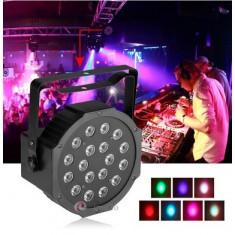 Proiector Scaner Joc Lumini DMX 7 canale Flat Par Light RGB 18 LED - Lumini club